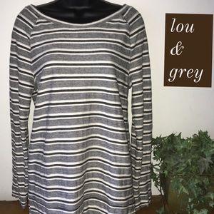 Lou & Grey Striped Sweatshirt Size Large
